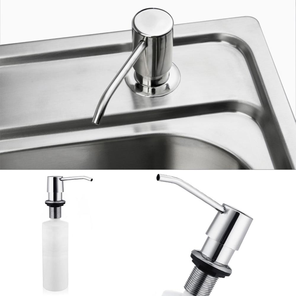 300ml torneira do banheiro pia dispensador de sabão líquido loção dispensador bomba de armazenamento titular garrafa cozinha substituir garrafa