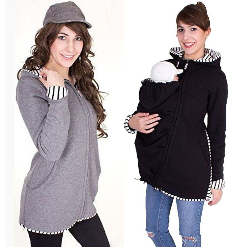 С капюшоном худи для беременных куртка кенгуру женская одежда Беременность