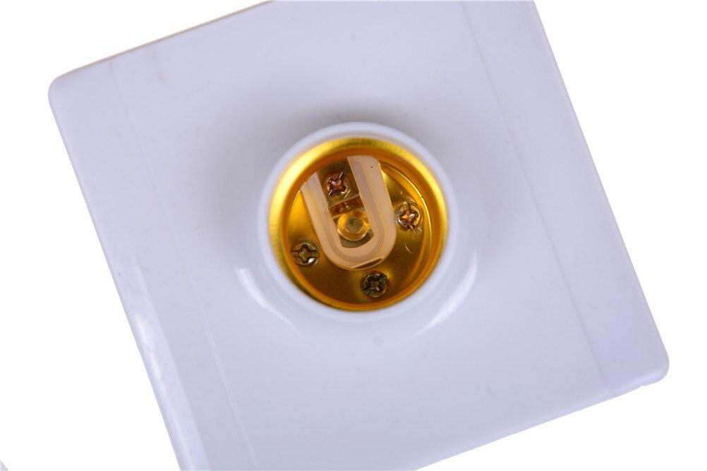 ZLinKJ 1 Uds E27 lámpara de Base cuadrada enchufe portalámparas PC soporte de luz