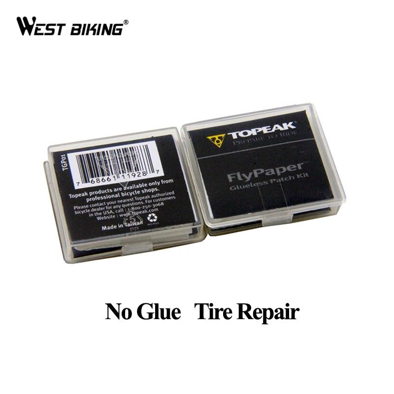 WEST BIKING No Glue Chip Bicycle Tire Repair Kit Mountain Bike Tire Repair Piece Thin Road Bike Available