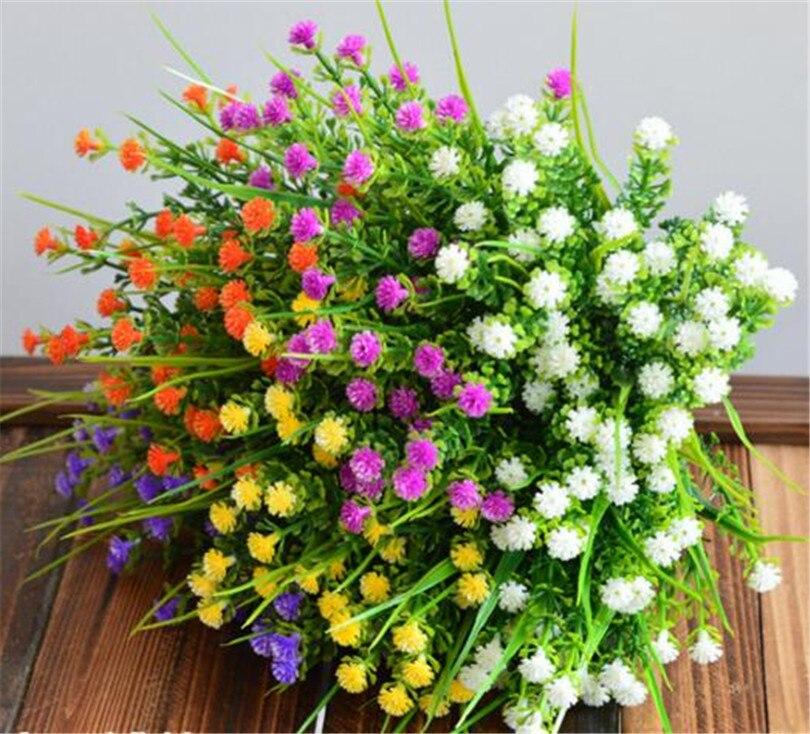 Petite Rose plastique en forme de feuille longue   Feuille artificielle, fausse herbe, plante verte, pour mariage, noël, décoration murale de maison