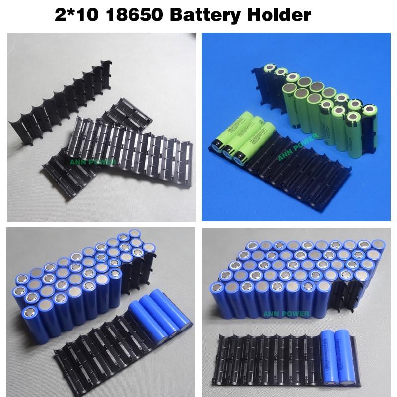 18650 battery holder Cylindrical cell 2*10 plastic holder 18650 lithium ion battery bracket plastic case 2P10S 3P10S 4P10S 5P10S
