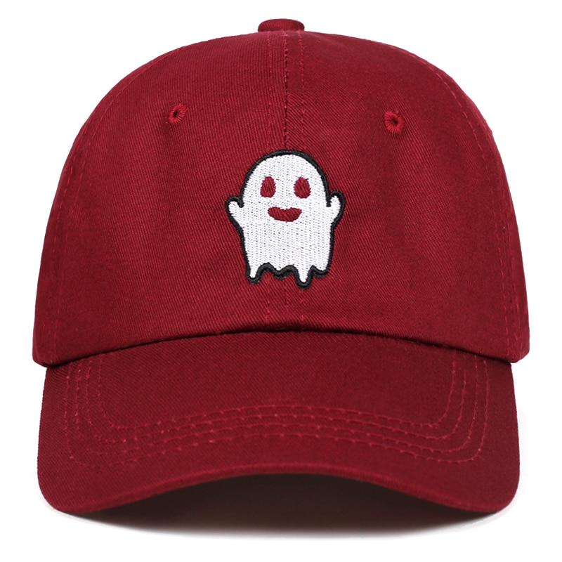 Gorros fantasma para hombre de algodón Spooky Kawaii bordado gorra Snapback deporte Hip-hop sombrero Streetwear gorra de béisbol Hip Hop mujeres papá sombrero
