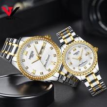 Montres NIBOSI pour amoureux unisexe montre de luxe pour hommes et montres pour femmes montre-bracelet à Quartz étanche montre-bracelet pour femme en cristal