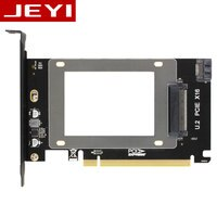 JEYI U2X16 PCI-Express 3.0 4x X16 to U.2 SFF-8639 Adapter NVMe PCIe SSD PCI-e to U2 Card M.2 NGFF 2.5' SSD TO PCI-E X16 intel x4
