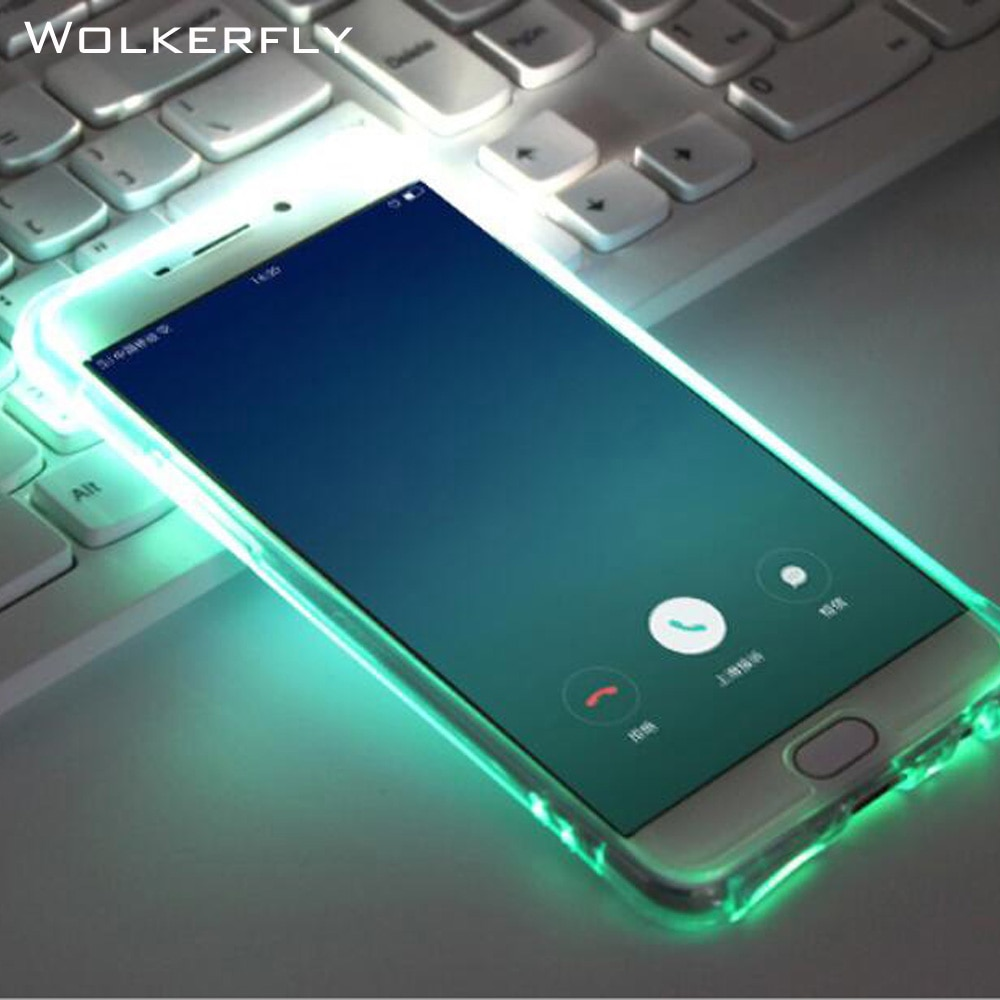 De lujo de destello de luz LED teléfono funda para Samsung Galaxy S8 PlusS6 S7 Edge Note5 A3 A5 A7 J3 J5 J7 primer luminoso brillo caso claro