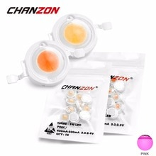 CHANZON 1W 3W High Power LED Lamp Chip Pink Epistar 3.0-3.4V 300mA 500mA for Spotlight Flashlight