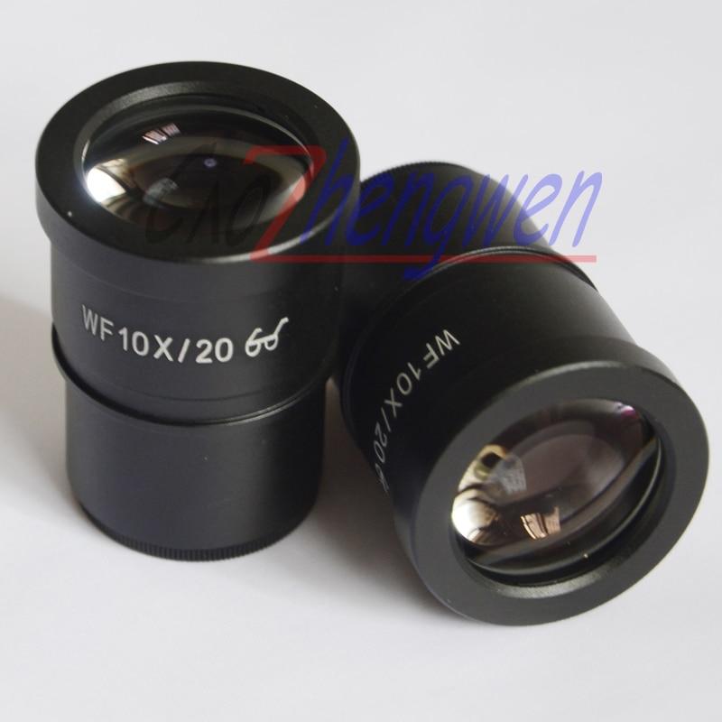 Oculaire de Microscope de champ large de Point élevé de FYSCOPE WF10X/20MM 30mm Microscope stéréo de Zoom oculaire 10X