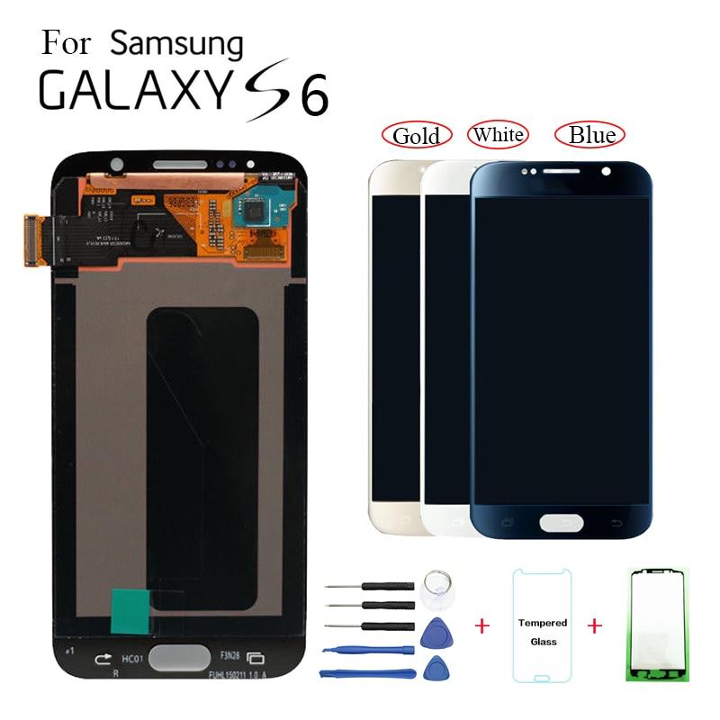 AMOLED ЖК-дисплей для Samsung Galaxy S6 G920F G9200 модуль дисплея для Samsung G920FD G920 G920W8 Замена ЖК-дисплея