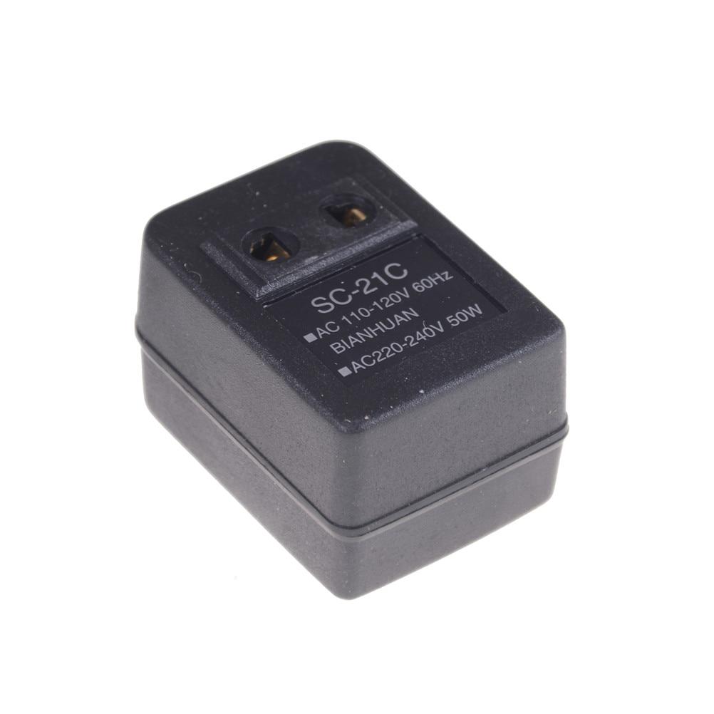 15W 220V 110V AC Voltaje de potencia Adaptador convertidor portátil transformador de configuración