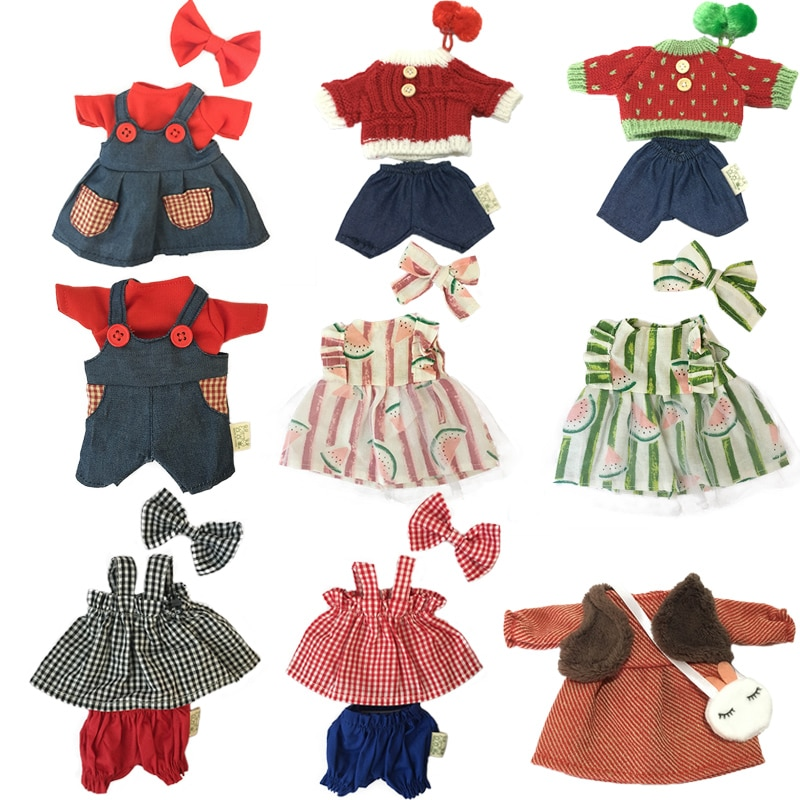 30cm Doll Clothes for Rabbit/Cat/Bear Plush Toys Skirt Sweater Suit Accessories for 1/6 BJD Dolls Gi