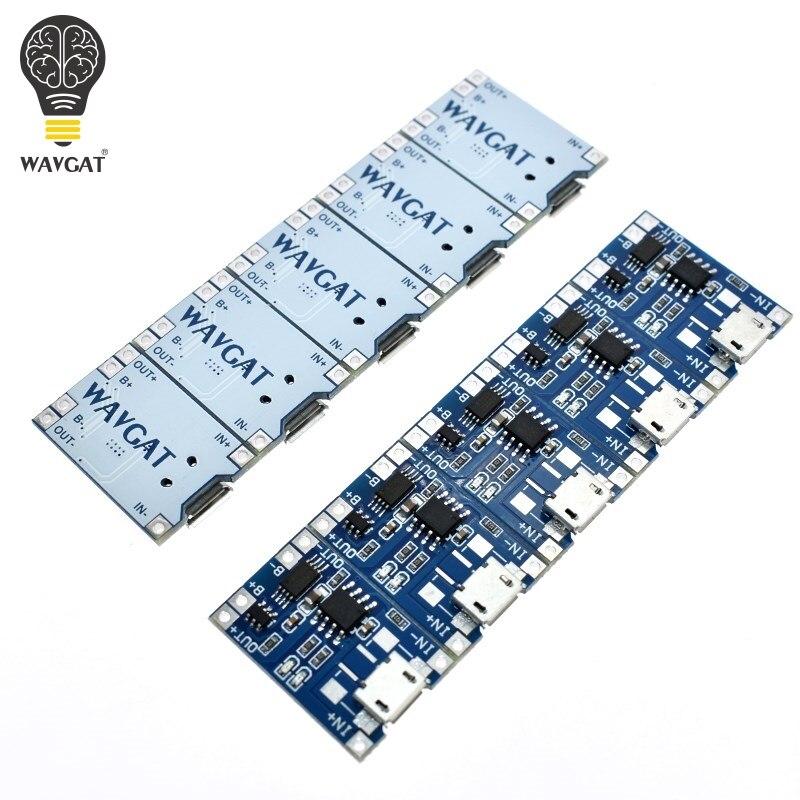 5 pcs מיקרו USB 5V 1A 18650 TP4056 ליתיום סוללה מטען מודול טעינת לוח עם הגנה כפולה פונקציות 1A ליתיום
