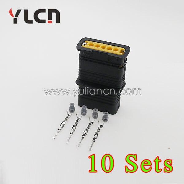 شحن مجاني 10 sets كيت السيارات الكهربائية 5 وعاء بلاستيكي ylcn ذكر موصل