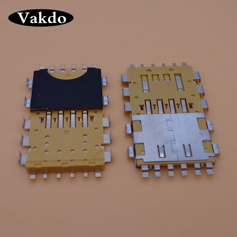 Para BlackBerry 9900, 9930, 9790, 9981 lector de tarjetas Sim bandeja porta ranura para conector hembra de reparación de piezas de repuesto
