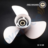boat motor 58130 zw1 019ah aluminium propeller for honda 75 130hp 13 x 19 pitch outboard motor
