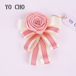 Yo cho criativo 4 cores de cetim casamento corsage boutonniere noivo casamento flores boutonniere broche flor pino quinceanera baile