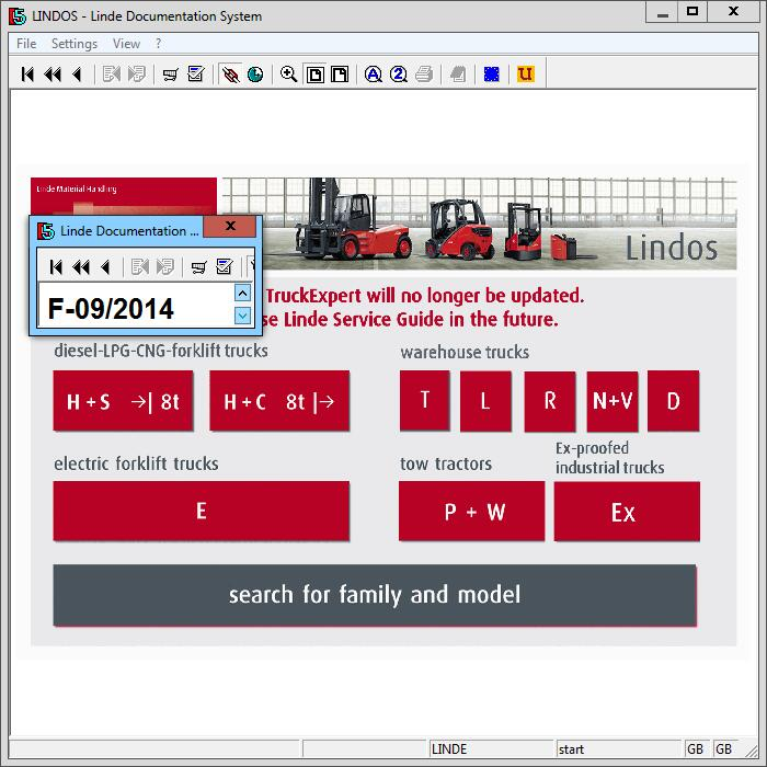 Диагностическое по Linde forklift LINDOS для грузовиков