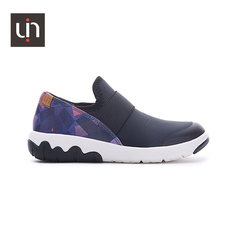 UIN Zaans Design Microfiber Leather Casual Sneakers for Kids Easy Slip-on Children Shoes Soft Flats Boys/Girls