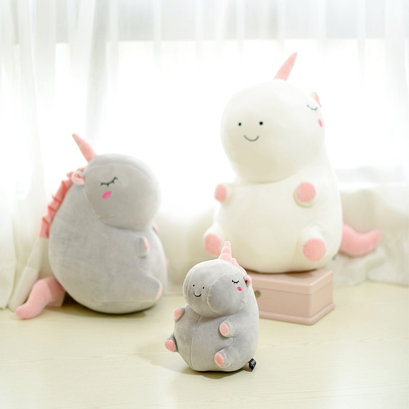 Unicorn Fat Stuffed Animal Baby Dolls Kawaii Cartoon Unicorn Plush Toys Kids Present Toys Children B