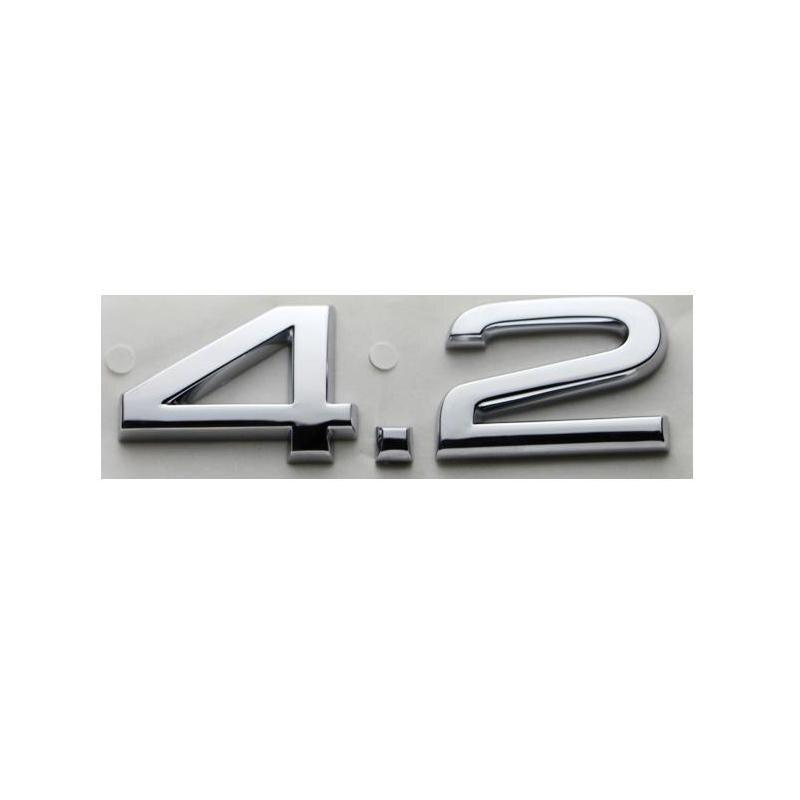 3D пластиковые хромированные 4,2 автомобильные наклейки, эмблемы, значки, эмблемы