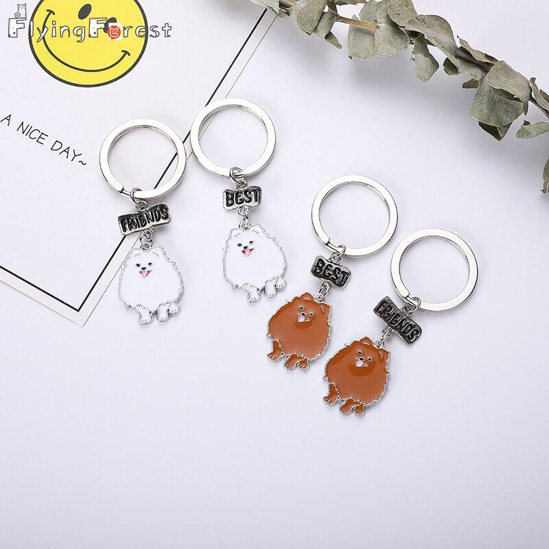 Брелок милый, новый модный брелок для ключей, модный металлический брелок для домашних животных, брелок для ключей с подвеской для собак, по...
