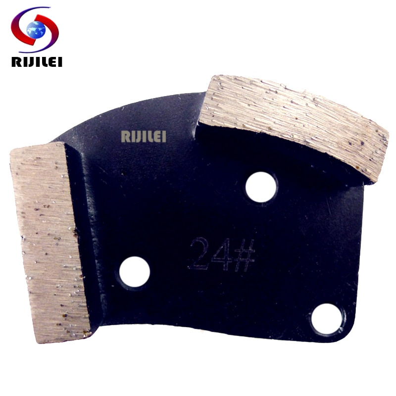 RIJILEI 12PCS/Set Diamonds Grinding disk for Concrete floor Diamond Grinding Shoes for Stone Metal grinding pads A60B