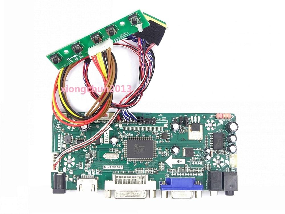 "Pantalla para LP156WH4 15,6 ""1366X768 panel monitor HDMI LCD DVI VGA LED Kit de placa controladora de pantalla M NT68676"