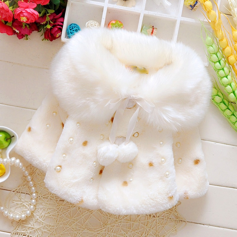 New Style Baby Toddler Infant Girls Clothes Cute Fleece Fur 2020 Winter Warm Coat Outerwear Cloak Ja