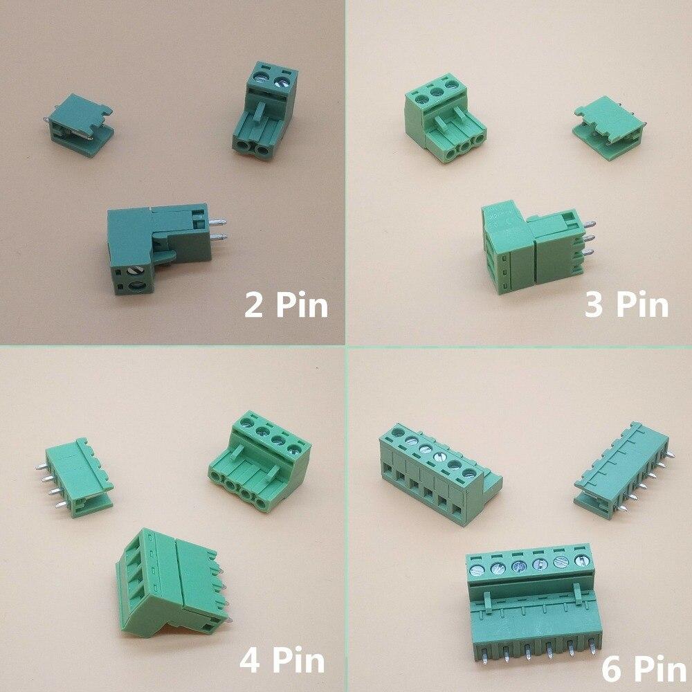 10 sets ht5.08 2/3/4/5/6/7/8pin enchufe terminal tipo 300V 10A 5,08mm conector pcb Bloque de terminales de tornillo
