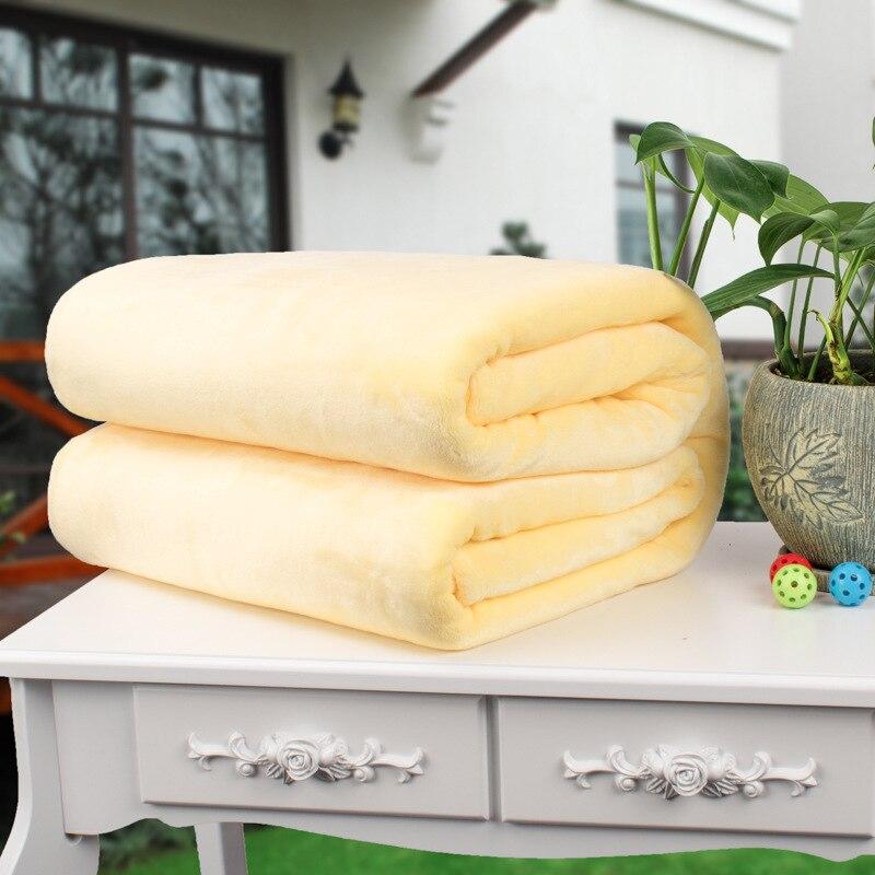 سجادة فائقة النعومة متعددة الوظائف ، بطانية ، ركبة ، صوف مرجاني ، شال ، صلب ، 1000 × 1500 مم