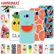 HAMEINUO Fruta de verano me encanta el verano de la cubierta de la caja del teléfono celular para Samsung Galaxy S9 S7 edge PLUS S8 S6 S5 S4 S3 MINI