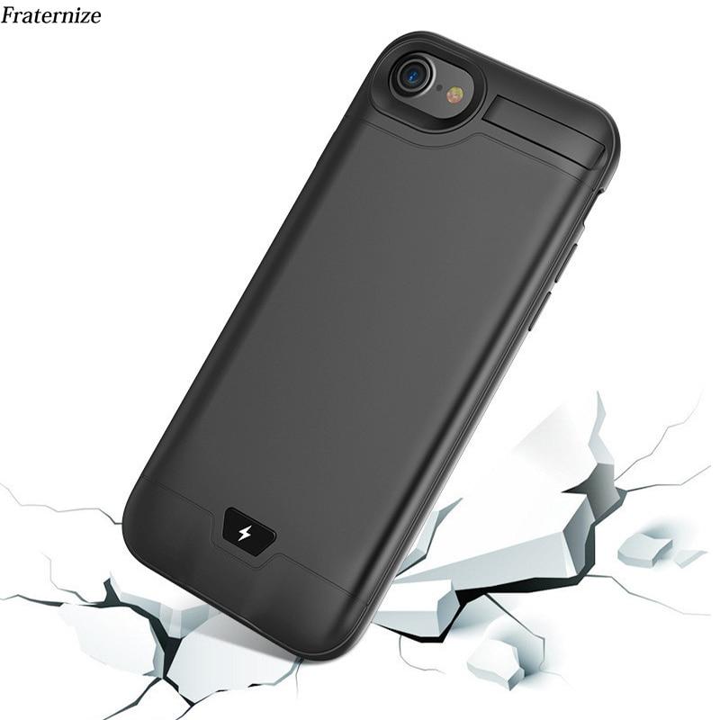 5000/8000mAh batería auxiliar carcasa para iPhone 6 6S 7 8 Plus Delgado Ultra delgado estuche de carga funda cargadora de batería