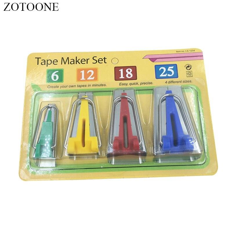 Zotoone 1 conjunto/4 pces fabricante de cinto retalhos acessórios máquina costura estofando ferramentas de costura para ferramentas de costura e acessórios d