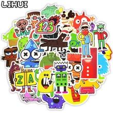 50 PCS Doodle Stickers Funny Little Monster Robot Decal Sticker Gift Toys for Children DIY Laptop Fridge Suitcase Skateboard Car