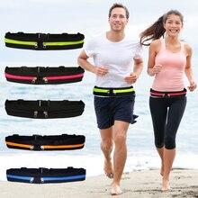 Double poche ceinture de course Mini Fanny Pack pour les femmes hommes pratique taille Pack voyage multifonctionnel étanche téléphone ceinture sac T8
