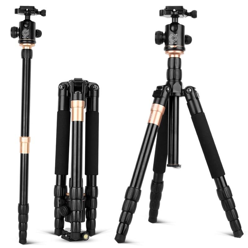 QZSD-trípode portátil Q666 Pro, accesorios de aluminio, cámara deportiva para SLR, carga...