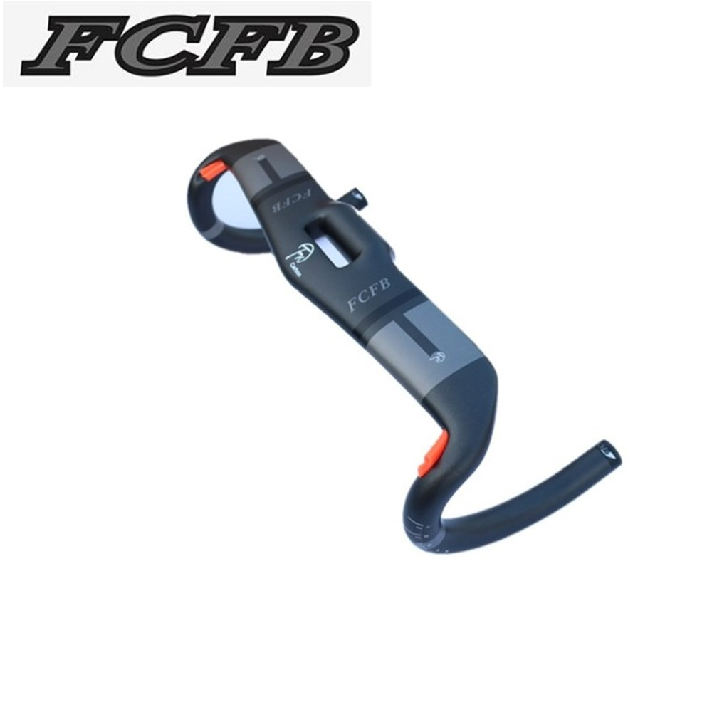 2016 Nuevo llega FCFB FW manillar de carretera negro gris mate cable interno manillar de bicicleta 31,8*400 420 440mm manillar de carretera de carbono