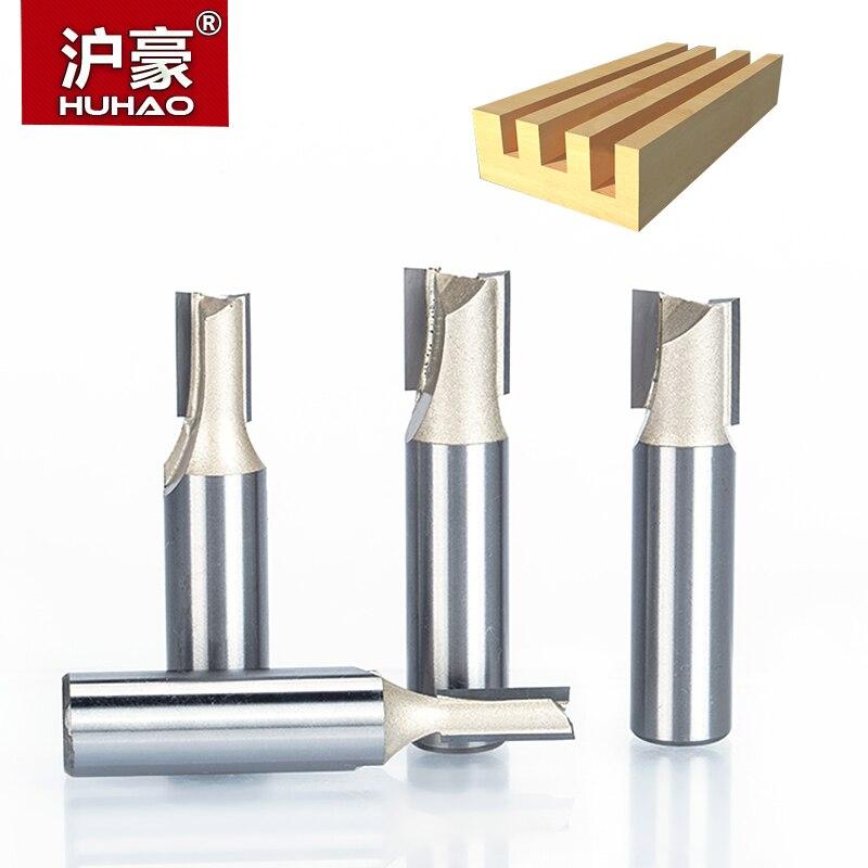 """Huhao 1 pçs 1/2 """"1/4"""" haste 2 flauta reta roteador bits para madeira carboneto de tungstênio endmill fresa ferramentas para trabalhar madeira"""