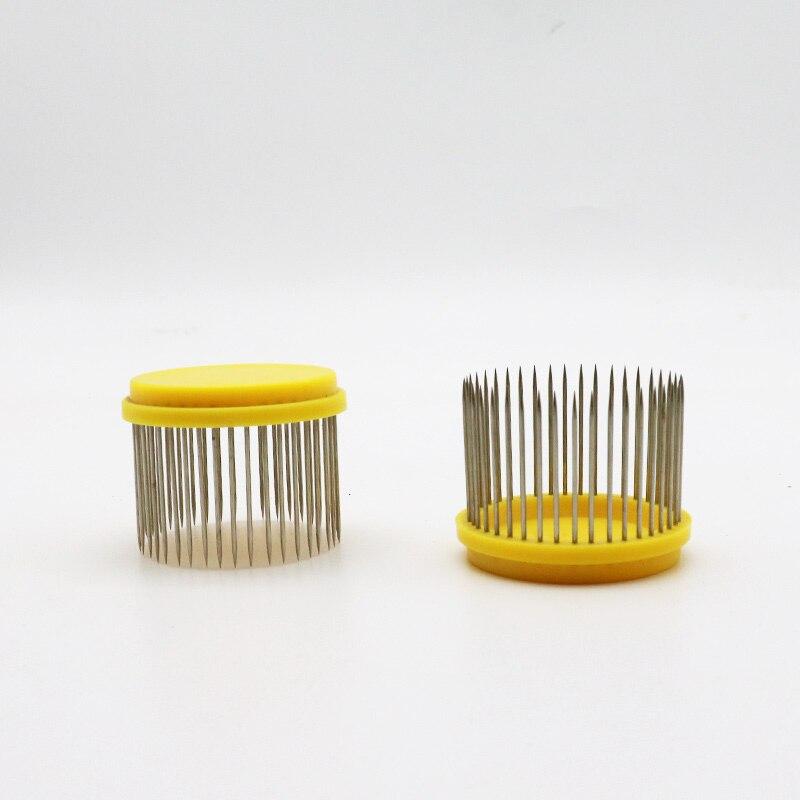 Outils dapiculture Cage de prisonniers en acier inoxydable   Pour abeilles, déduction aiguille roi, type aiguille Wang Cage de prisonnier abeille 5 pièces