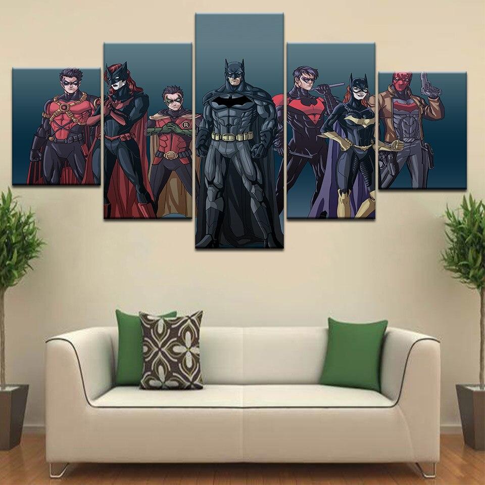 Robin (character)Nightwing Batgirl Red Robin Batman Comics cartoons canvas Print Poster Printing Wall Art Home Decor Gift
