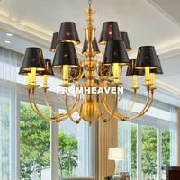Free Shipping Nordic Pendant Lamp for Bedroom Dining Living Room American Bronze Luxury Hanging Lamp Chandelier Pendant Fixtures