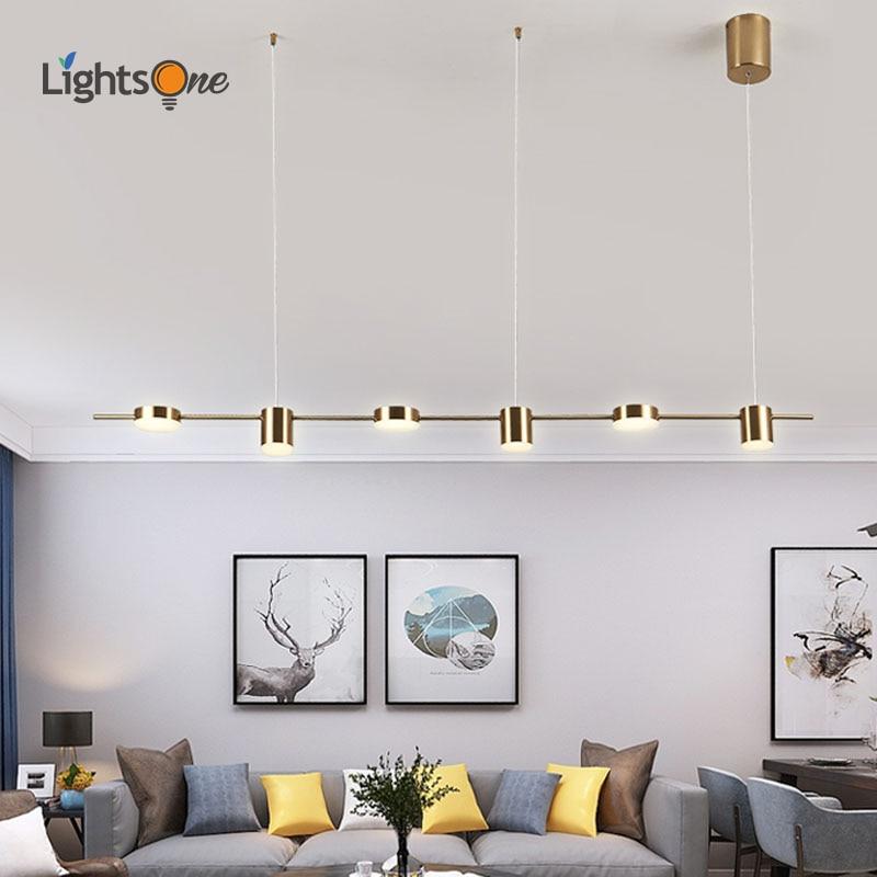 مصباح معلق إبداعي حديث وبسيط للمطعم ، شريط إضاءة بسيط ، طاولة بار ، غرفة طعام ، شكل طويل