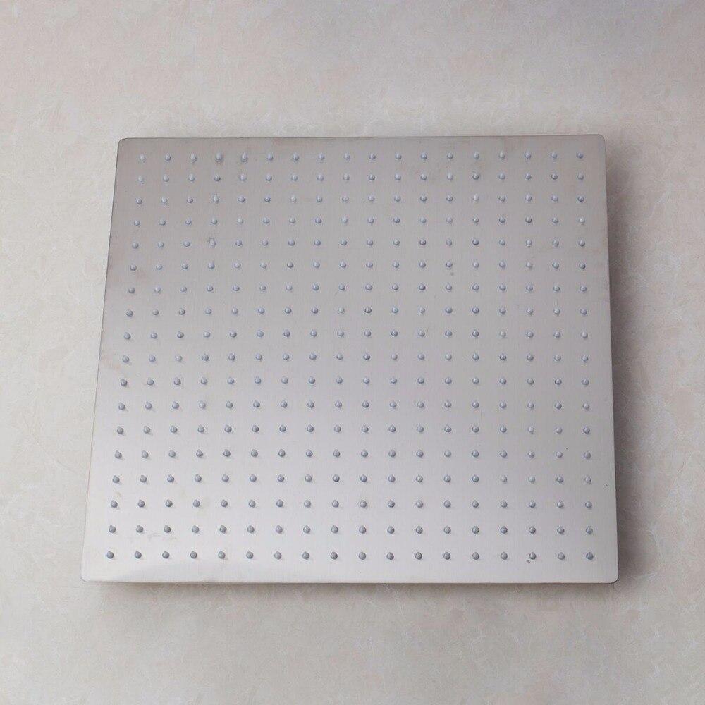 YANKSMART-حنفية خلاط حمام مربعة ، 12 بوصة ، مطلية بالنيكل ، مثبتة على الحائط ، فولاذ مقاوم للصدأ