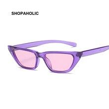 Retro Cat Eye Sonnenbrille Frauen Kleine Rahmen Dreieck Lila Sonnenbrille Frauen Brillen Oculos De Sol Feminino Lunette Soleil