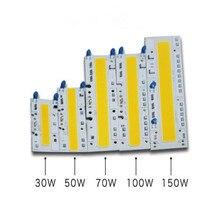 LED COB çip AC220V 110V 30 w/50 w/70 w/100 w/150 w bar LED Projektör Lambası modülü Beyaz 6000 k/sıcak beyaz 3000k Ücretsiz Kargo 5 adet