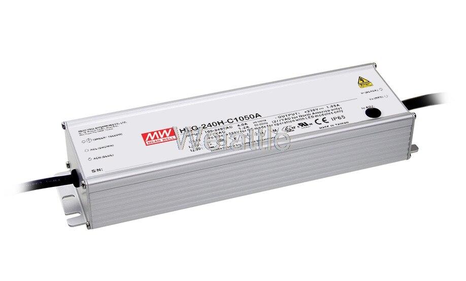 MEAN WELL original HLG-240H-C700A 178 ~ 357V 700mA HLG-240H-C 249,9 W fuente de alimentación del controlador LED tipo A prueba de agua IP65