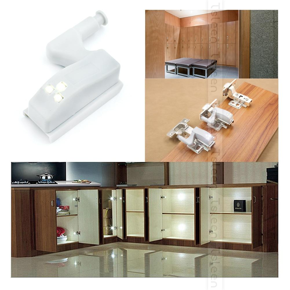 ¡TSLEEN envío gratis! Lámpara LED con Sensor de 16 uds, armario de cocina, armario, armario, sistema de luces de Bisagra, luminaria de 0,2 W