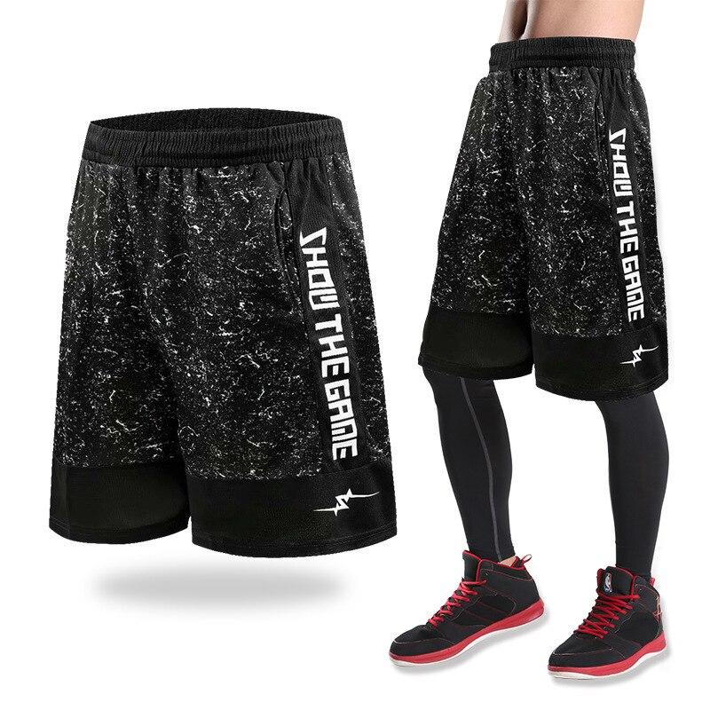 2019 de secado rápido deporte Atlético EE. UU. Pantalones cortos de baloncesto entrenamiento hombres activa pantalones cortos sueltos bolsillos de verano hombre corriendo Fitness corto