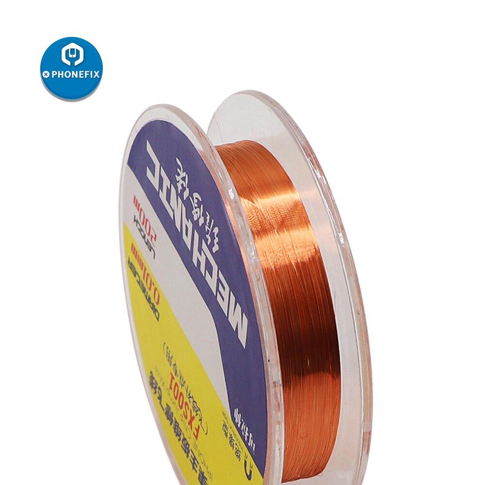 0,01mm 0,02mm de huellas dactilares de la placa base de reparación de soldadura BGA Conductor de cable de alambre de puente para iPhone de la placa base de reparación de soldadura