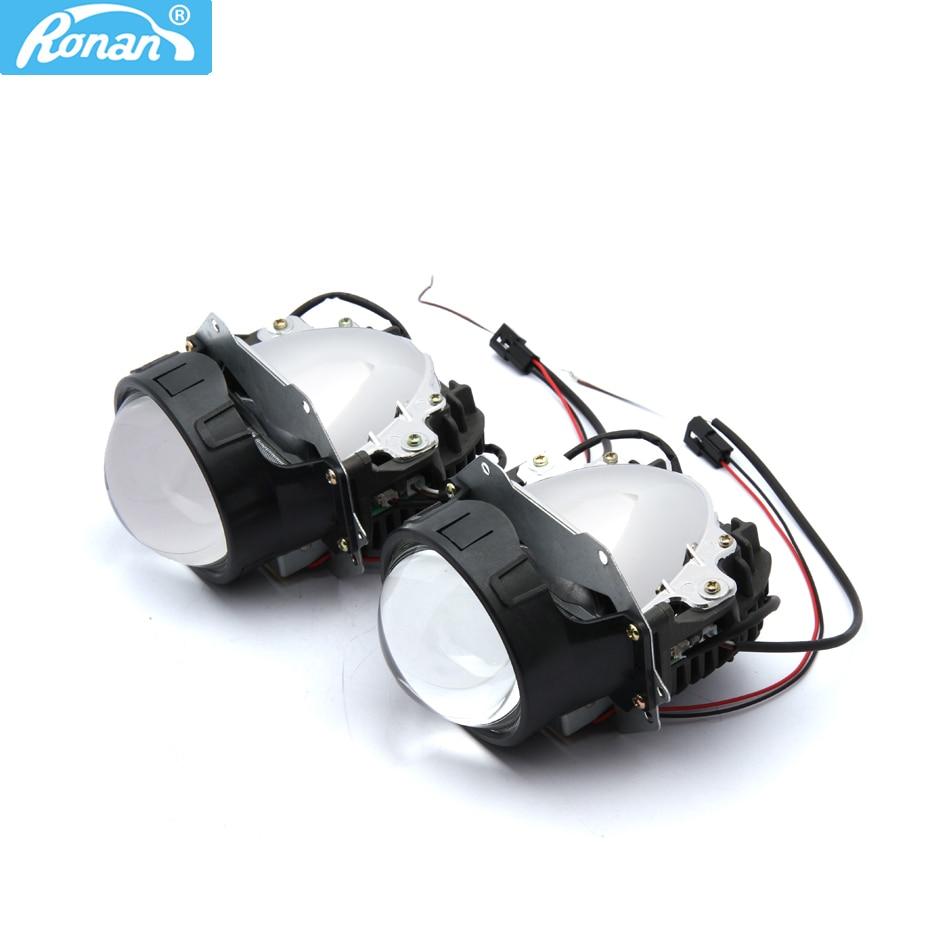 "RONAN Car Styling 3,0 ""universal Bi LED proyector faros lente os-ram Chip Super alta baja haz 5500K Auto faro readaptación"